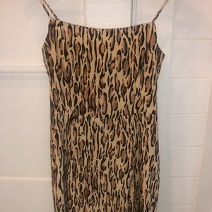 Aritzia leopard short dress